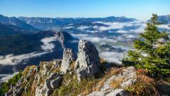 Alps mountain view timelapse Stock Footage