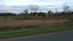Driving on a Country Road - stock footage