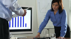 businessteam working together with modern technology - stock footage