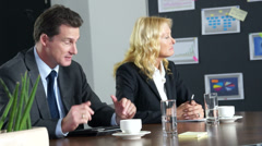 Businessteam in a discussion Stock Footage