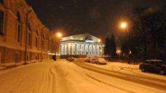 Stock Exchange historical building. St.Petersburg, Russia Stock Footage