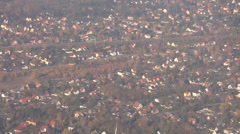 Berlin view from the airplane Stock Footage