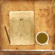 An illustration of a Vitruvian man Stock Illustration
