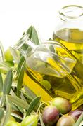 extra virgin olive oil - stock photo