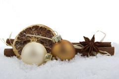 Christmas, christmas ornament brown Stock Photos