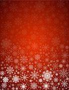 frosty snowflakes background - stock illustration