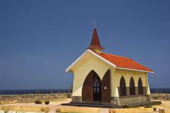 Alto vista chapel in Aruba - stock photo
