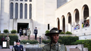 Stock Video Footage of aust war memorial ceremony
