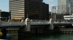 Bridge over Fort Point Channel Boston Stock Footage