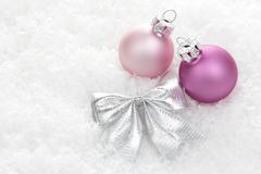 christmas, christmas ornament violet - stock photo