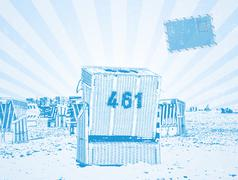 beach chair - stock illustration
