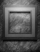 Grunge black frame - stock illustration