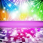 Rainbow-Disco - stock illustration