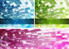 Rainbow-Disco-Set - stock illustration