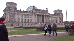 Berlin german parliament house reichstag Stock Footage