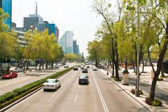 Paseo de la Reforma, the main avenue in Mexico City, Mexico. Stock Photos