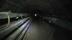 US - Bunker Practice 10 - POV Bunker Tunnel 01 Stock Footage