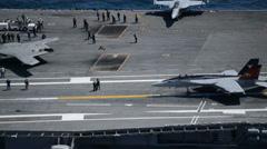 USS - George-HW-BUSH - Aerial Shots03 Stock Footage