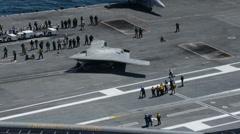 USS - George-HW-BUSH - Aerial Shots 04 Stock Footage