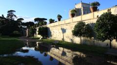 Villa Doria Pamphili in Rome 9 Stock Footage