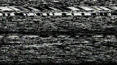 VHS TV Noise Footage  - stock footage