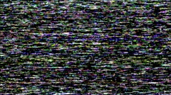 VHS TV Noise Footage - Color Stock Footage