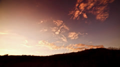 Stock Video Footage of movement of the clouds at sunset