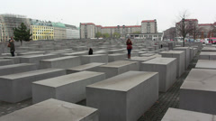 Holocaust Memorial, Berlin Stock Footage