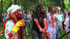 Zombies, ghouls, dead - stock footage