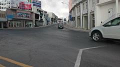 Crossroad of Gladstone street and Apostolou Pavlou avenue, Paphos city, Cyprus Stock Footage
