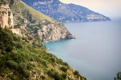 Sea in Amalfi Coast Stock Photos