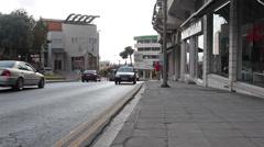 Gladstone street direction to the Apostolou Pavlou avenue in Paphos, Cyprus Stock Footage