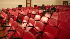 The chairs in the auditorium Stock Footage