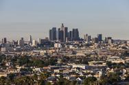 Stock Photo of lincoln heights and downtown los angeles