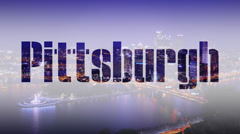 4K Pittsburgh Title Plate 3825 Stock Footage