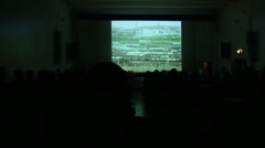 Cinema hall with the audience Stock Footage