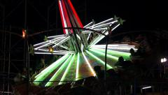 Fair Ride Spinning Top Fast Stock Footage