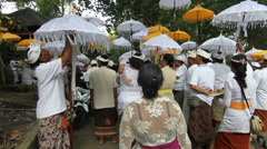 Bali Temple Ceremony 12 Stock Footage
