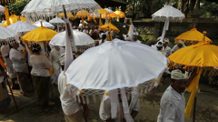 Bali Temple Ceremony 14 Stock Footage