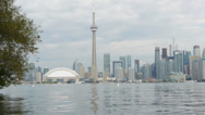 Stock Video Footage of View of Downtown Toronto, Canada