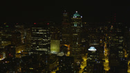 Stock Video Footage of Wide aerial shot flying by 1201 3rd Avenue Tower and Downtown Seattle