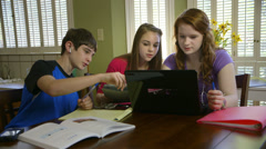 teenagers studying at home - stock footage