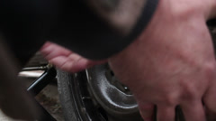 Changing a car tire _5 Stock Footage