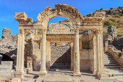 Temple of hadrian in ephesus - stock photo