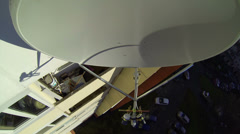 Mobile-satellite aerial, antenna, dish Stock Footage