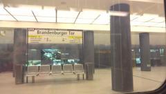 Berlin brandenburg train Stock Footage
