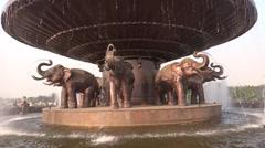 A fountain in Mahamaya gardan closeup - stock footage