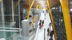 Barajas Airport - Madrid, Spain 9 Stock Footage