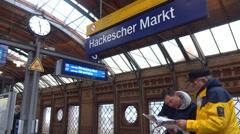 Berlin hackescher markt Stock Footage