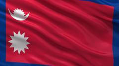 Flag of Nepal Stock Illustration